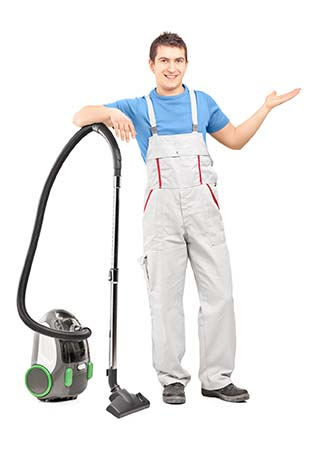 domestic home cleaners vacuuming